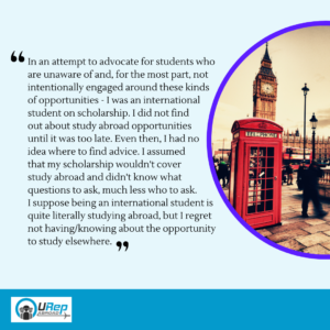 5. Story 2 - Institutions and advisors need training on supporting underrepresented students in all stages of going abroad.