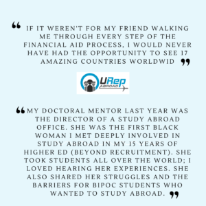 6. Story 1 - Friends and mentors can also be a great support in studying abroad.
